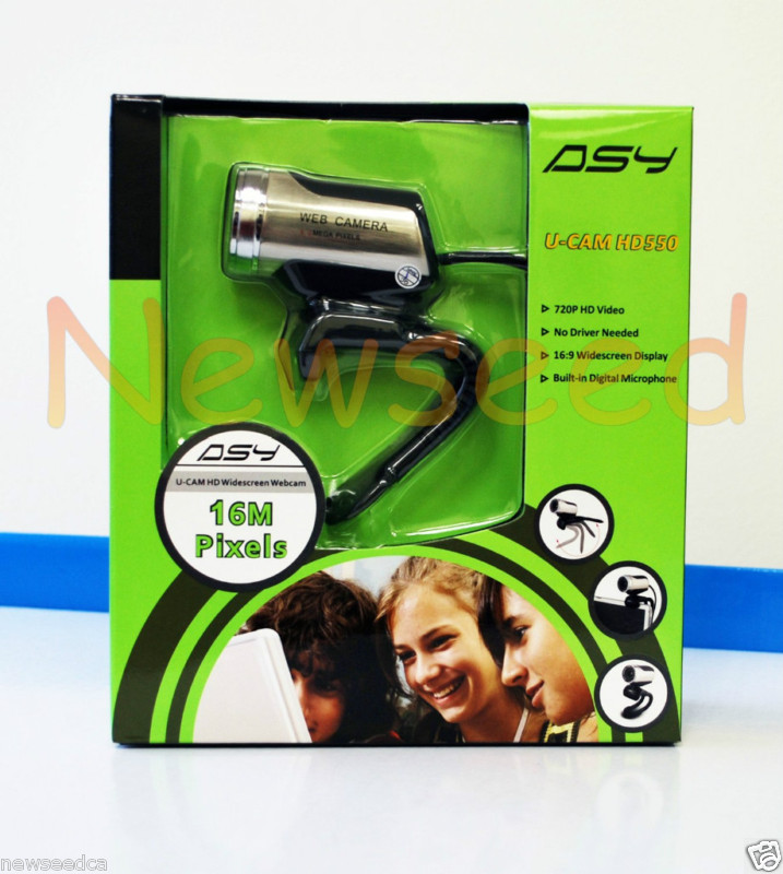 ASY HD550 720P 16M Pixel USB Webcam
