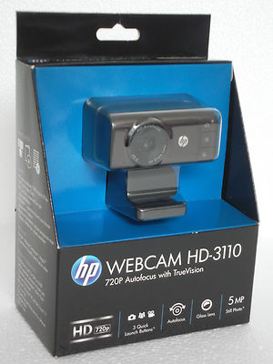 HP Webcam HD-3110 - 720P Autofocus Widescreen Webcam