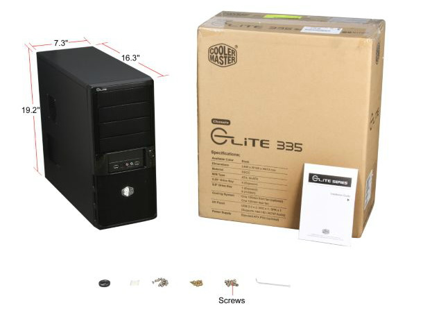 COOLERMASTER ELITE 335 RC-335-KKN1-GP Black SECC Steel ATX Mid