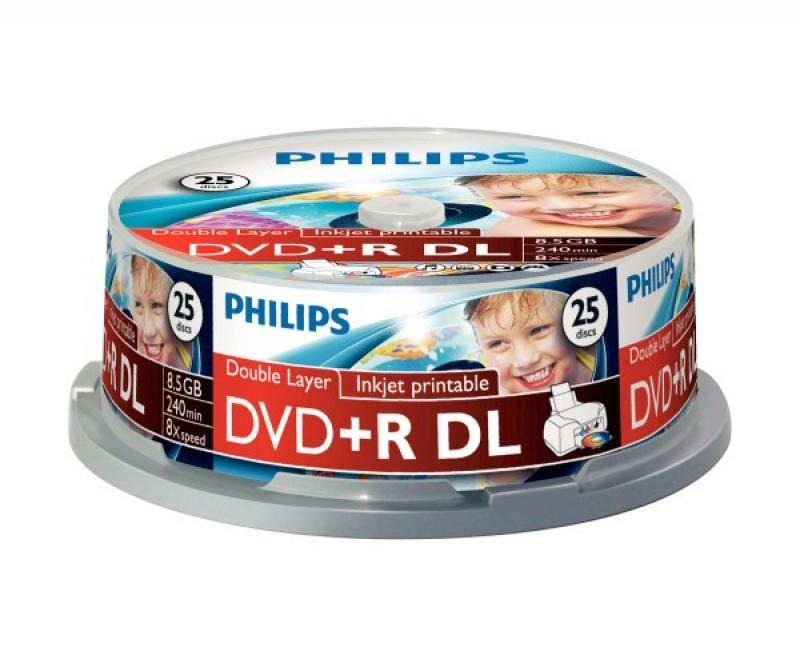 DOUBLE LAYER DVDR+, 25pcs/pack