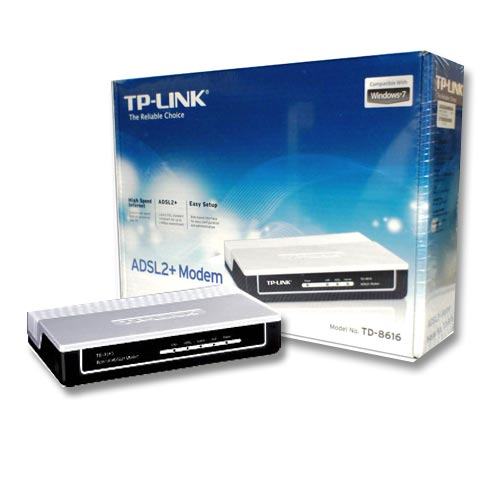 ADSL2+ modem with bridge mode TPLINK 8616