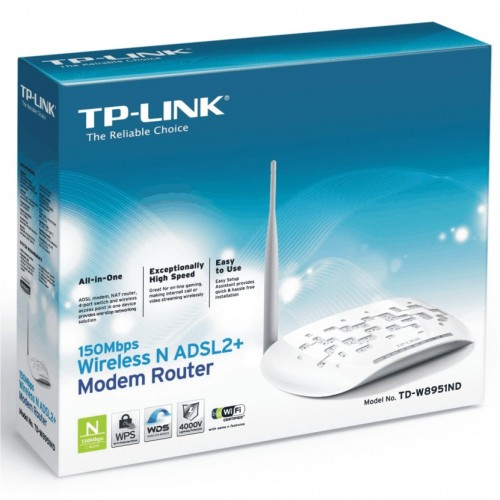 ADSL2+ Modem Router 150Mbps Wireless N TD-W8951ND