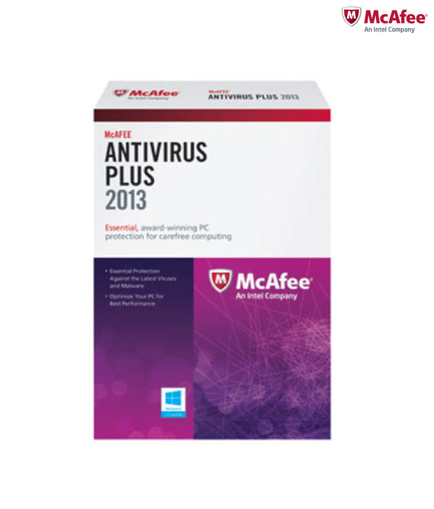 MCAFEE ANTIVIRUS 2013 VIRUS 1 USER