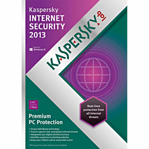 2013 Kaspersky Internet Security Retail Box For 3 x PC