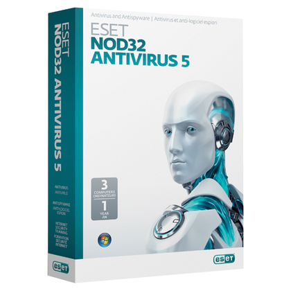 ESET NOD32 2012 ANTI-VIRUS V - 5.0 W/ MEDIA-CD