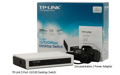 TP-Link 10/100 5 port switch