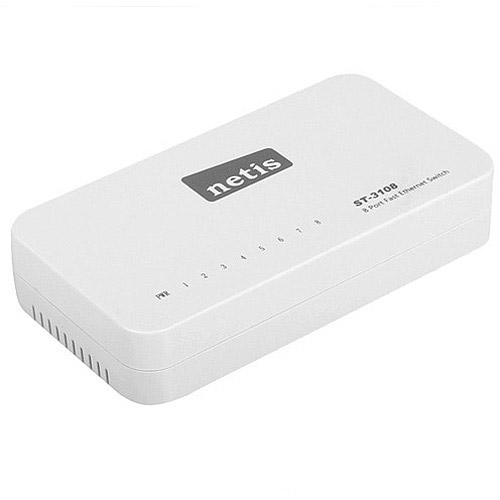 Eight port 10/100 plastic Ethernet switch