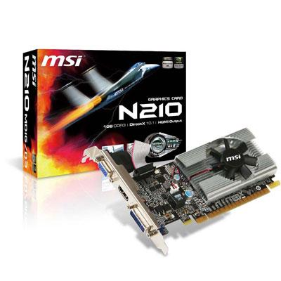 MSI NVIDIA GeForce GT210 1G DDR2 LOW PROFILE HDMI
